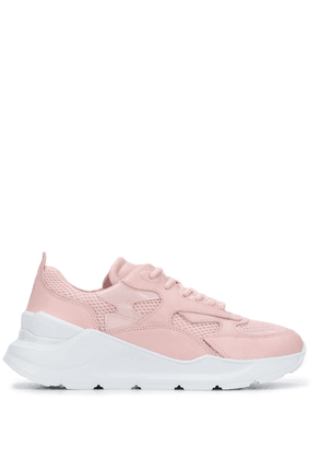 D.A.T.E. panelled lace-up sneakers - Pink