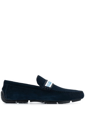 Calvin Klein logo band loafers - Blue