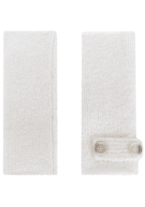 Eleventy fingerless gloves - White