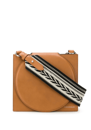 Elena Ghisellini weaved handle shoulder back - Brown