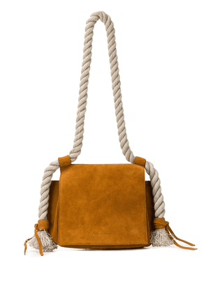 Elena Ghisellini Foxy suede shoulder bag - Brown