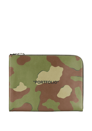 Off-White Portfolio print document holder - Green