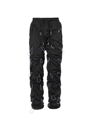 99%IS- - Gobchang Stretch-shell Drawstring Trousers - Black