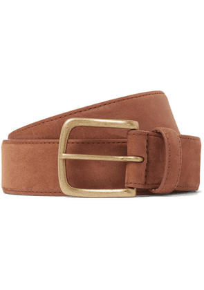 Anderson & Sheppard - 3.5cm Suede Belt - Brown
