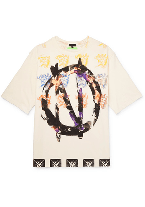 99%IS- - Oversized Printed Cotton-jersey T-shirt - Cream
