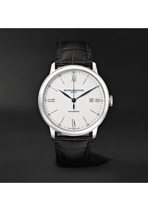 Baume & Mercier - Classima Automatic 40mm Stainless Steel And Alligator Watch, Ref. No. M0a10214 - White