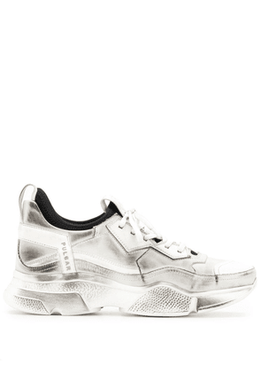 Bruno Bordese distressed wedge sneakers - White