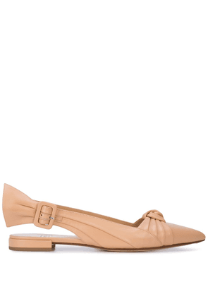Francesco Russo pointed toe pumps - Brown