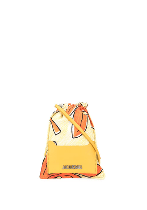 Jacquemus Le Minot printed pouch necklace - Yellow