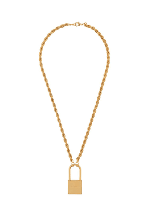 Heron Preston padlock pendant necklace - Gold