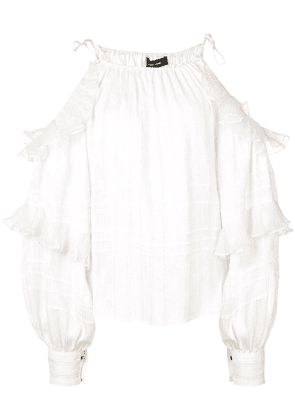 Isabel Marant ruffled blouse - White