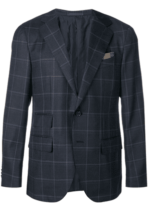 Caruso check jacket - Blue