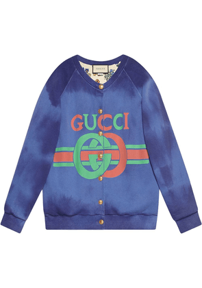 Gucci Cotton sweatshirt with Gucci logo - Blue