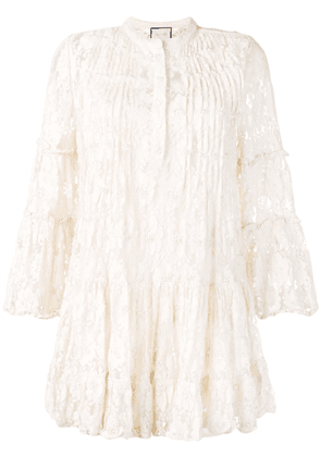 Alexis beaded lace dress - Neutrals
