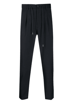 Barba drawstring tapered trousers - Blue