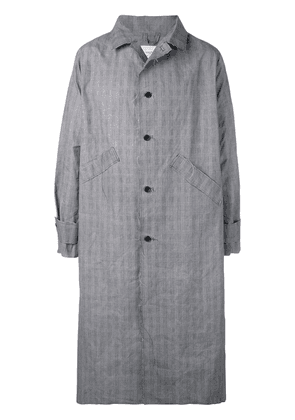 Camiel Fortgens checked single-breasted coat - Grey