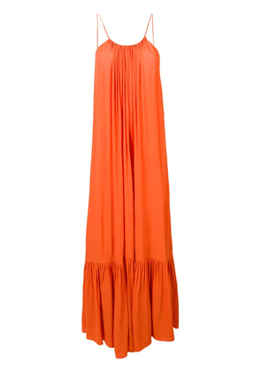 Erika Cavallini ruffled hem maxi dress - Orange