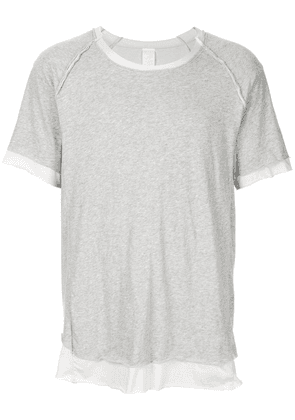 Carpe Diem layered look T-shirt - Grey