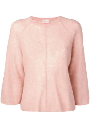 By Malene Birger 3/4 sleeve knitted top - Pink