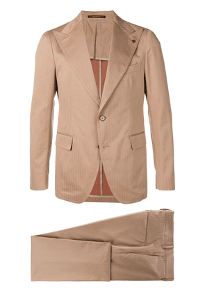 Tagliatore pinstripe two-piece suit - Neutrals