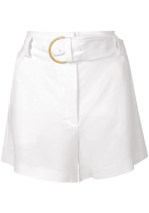 A.L.C. belted flare shorts - White