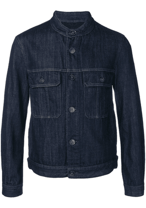 Giorgio Armani fitted denim jacket - Blue