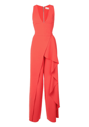 Alice+Olivia asymmetric ruffle jumpsuit - Red