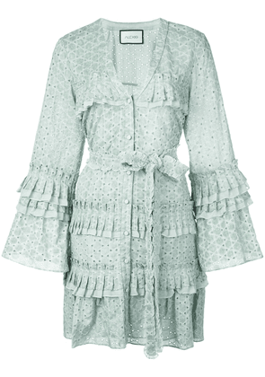 Alexis Audrea broderie anglaise shirt dress - Green