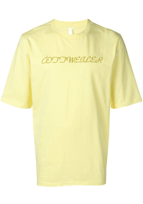 Cottweiler embroidered logo T-shirt - Yellow