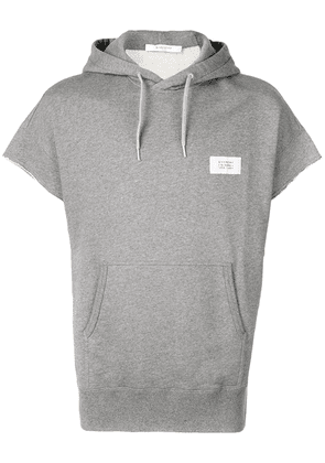 Givenchy short sleeved hooded top - Grey