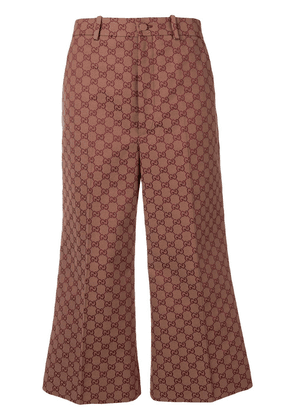 Gucci GG wool canvas culotte pant - Brown