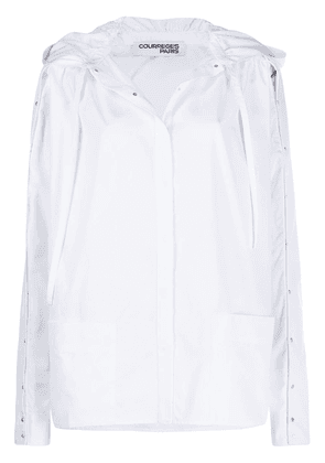 Courrèges hooded shirt - White