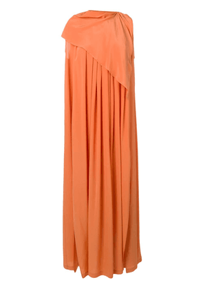 Erika Cavallini flared maxi dress - Orange