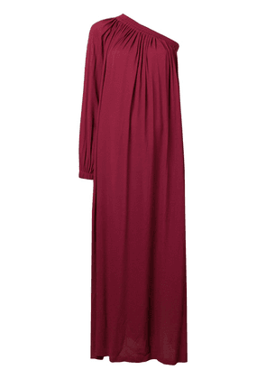 Erika Cavallini one shoulder maxi dress - Red