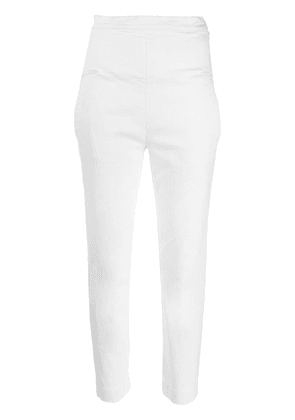 Chalayan tapered cropped jeans - White