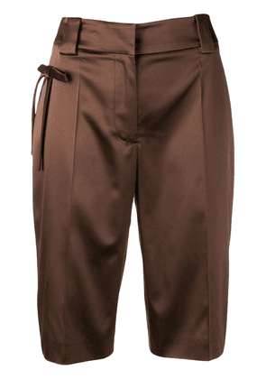 Prada bow Bermuda shorts - Brown