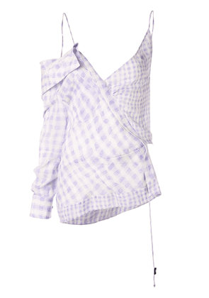 Altuzarra checked asymmetric top - Purple