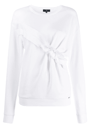 Fay ruched panel jumper - White