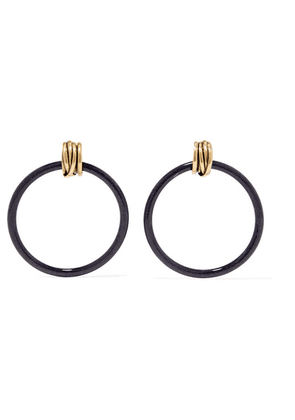 Balenciaga - Gold-tone And Resin Earrings - one size