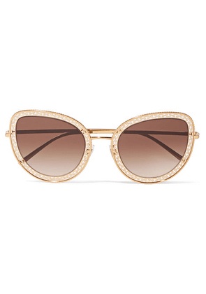 Dolce & Gabbana - Cat-eye Gold-tone Sunglasses - one size