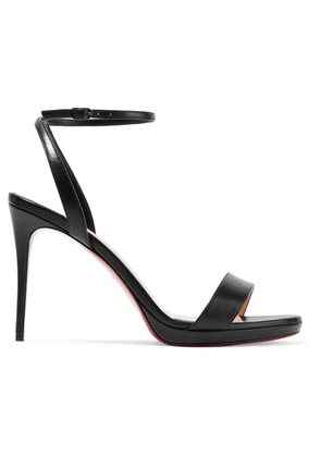 Christian Louboutin - Loubi Queen 100 Leather Sandals - Black