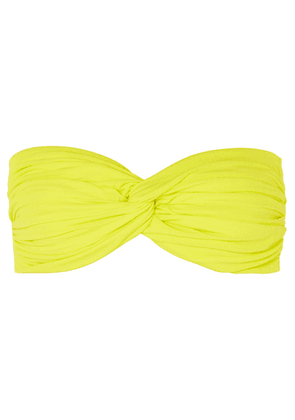 Norma Kamali - Johnny D Ruched Bandeau Bikini Top - Bright yellow