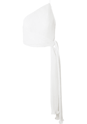Brandon Maxwell - Vinch One-shoulder Pleated Stretch-crepe Top - White