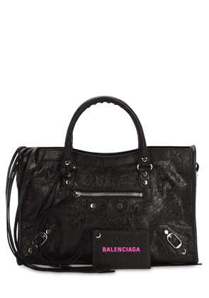 City S Leather Bag W/logo Printed Strap