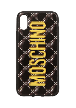 Logo Print Quilted Iphone Xs Cover