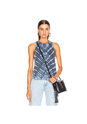 Raquel Allegra Swing Tank in Blue,Ombre & Tie Dye