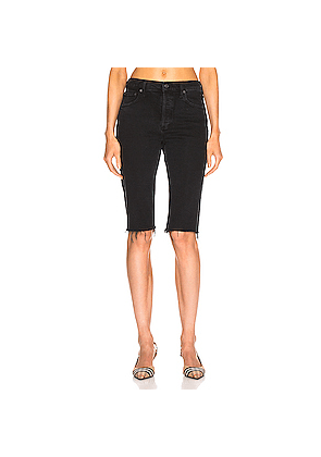 AGOLDE Carrie Short in Black