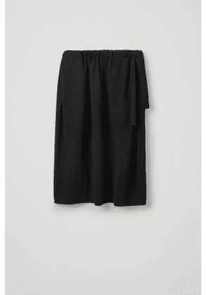 ROUNDED-SHAPE JERSEY SKIRT