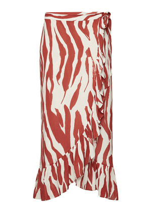 Anine Bing Lucky Printed Wrap Skirt