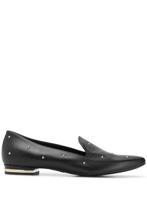 Agl rounded stud loafers - Black